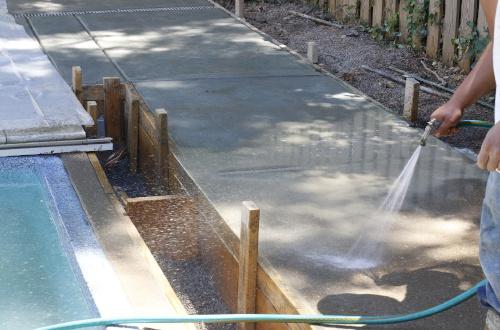 Проливка бетона брус на бетон